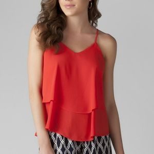 Francesca's Red Tiered BohoSummer Flowy Tank Top